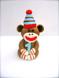 ridiculously cute sock monkey cake topper perfect for sock monkey