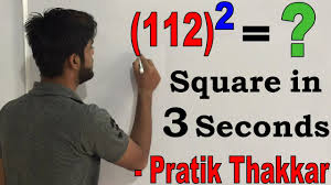1st face cam video by pratik thakkar easy math square trick