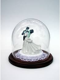 display glass domes for wedding cake toppers