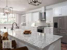 white shaker kitchen cabinets with gray quartz countertops waypoint painted linen shaker cabinets quartz counter tops