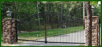 ornamental aluminum and chain link homestead fence