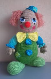 Knitting Home Decor Crochet Clown Doll Amigurumi Kids Toys Circus Gifts Ideas Home