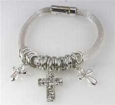 silver bracelet with cross charm images Christian bracelets page 28 the quiet witness jpg