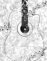 large guitar coloring page large coloring pages elegant adult coloring page printable adult