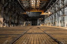 industrial interior of an old factory building stock photo