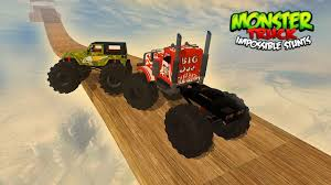 fire trucks monster truck stunt monster truck impossible stunts android apps on google play
