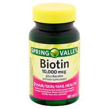 Kitchens Plus Team Valley Spring Valley Biotin Tablets 10 000mcg 60 Ct Walmart Com