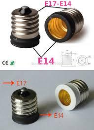 small light bulb socket adapter 2pcs lot small e17 to e14 bulb adapter light l convertor
