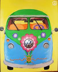volkswagen bus painting hippie vw van by rhcpbaybay11417 on deviantart