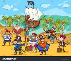 cartoon vector illustrations fantasy pirate characters stock