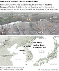 What Is Map Testing A Timeline Of North Korea U0027s Five Nuclear Tests And How The U S
