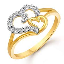 finger rings girls images Buy meenaz royal heart gold and rhodium plated cz ring for women jpg