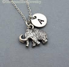 mammoth charm necklace woolly mammoth shortandbaldjewelry