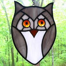 124 best sglass owls hoot hoot images on stained