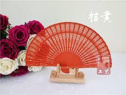 cheap wedding fans i am your fans 50pcs lot orange color s day gifts unique