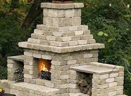 Outdoor Cinder Block Fireplace Plans - diy backyard fireplace plans living room outdoor simple pertaining