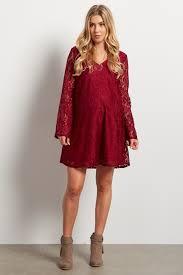 burgundy lace bell sleeve dress tunic