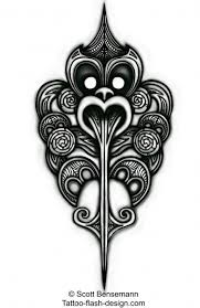 maori tattoo design inspired by the haka