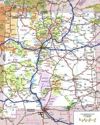 Interstate Map Of The United States by Large Detailed Roads And Highways Map Of New Mexico State With