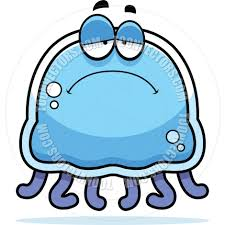cartoon little jellyfish sad by cory thoman toon vectors eps 4277