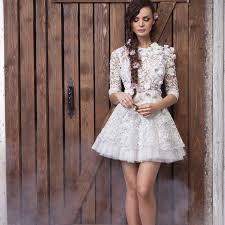 cheap wedding dress white vintage lace half sleeves wedding dresses