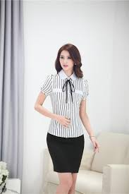 business blouses 2015 summer professional business suits blouses and skirt