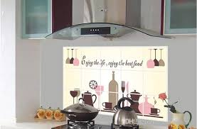 pvc creative kitchen wall sticker heat resistant oil resistant