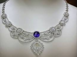diamond necklace collection images Traditional diamond necklace jewellery design diffend model jpg