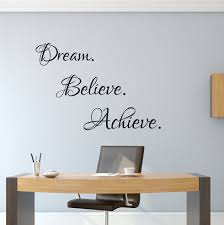 office wall art dream believe achieve inspiring wall art success decal home