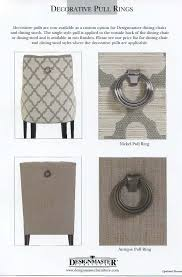 Ring Back Dining Chair Decorative Pull Rings Designmaster Furniture