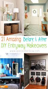 Entryway Wall 21 Amazing Before After Entryway Makeovers A Piece Of Rainbow
