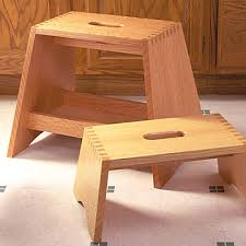 step stool with box joints free woodworking plan step stool with