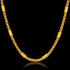 gold chain necklace long images Fashion stainless steel thick gold chain necklace male new 3 size jpg