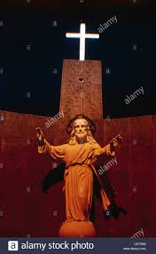 rsa 81775 statue of jesus christ and crucifix cross in christian