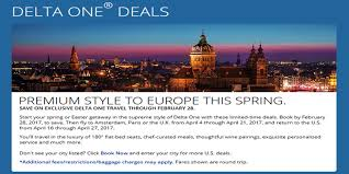 Delta Airlines Baggage Fees Delta Air Lines Announces A Delta One Premium Fare Sale To Europe