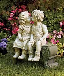 boy on bench detailed garden ceramic