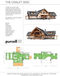 purcell timber frame homes the chalet 3000 home package