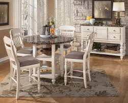 Five Piece Dining Room Sets Dining Room White Classic Wooden 5 Piece Dining Set Design Style