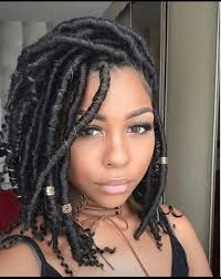 faux dreads with marley hair 35 short faux locs and protective goddess locs styles