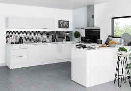 credence cuisine blanche beautiful cuisine noir et blanc et bois pictures design trends