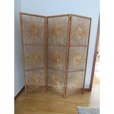 Wicker Room Divider Vintage Wicker Rattan Bohemian Sunburst Room Divider Screen Chairish