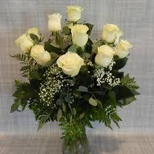White Roses In A Vase White Rose Vase Arrangement U2013 A Village Florist
