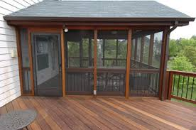 deck with screened porch screened porches pergolas and porch