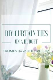 how to make tie backs for curtains from evija with love