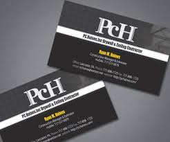 Business Card For Construction Company Business Card Design For Pc Haines Inc Drywall U0026 Ceiling