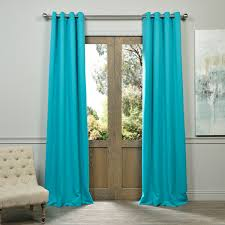 Blackout Curtains Windows Turquoise Blue Grommet Blackout Curtains Drapes