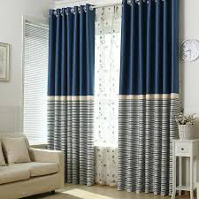 navy blue blackout living room ready made striped curtains