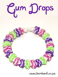 bracelet looms bands images Gum drops loom band bracelet tutorial loomband jpg