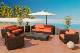 bronze wicker viro fiber sofa daybed set outdoor 7