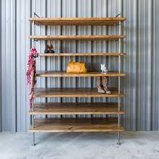 hand crafted industrial closet pipe shelving shoe shelves by